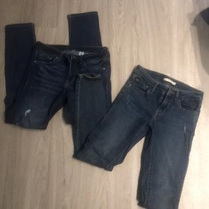 Lot of 2 Women's Jeans skinny size 26 Levi's H&M